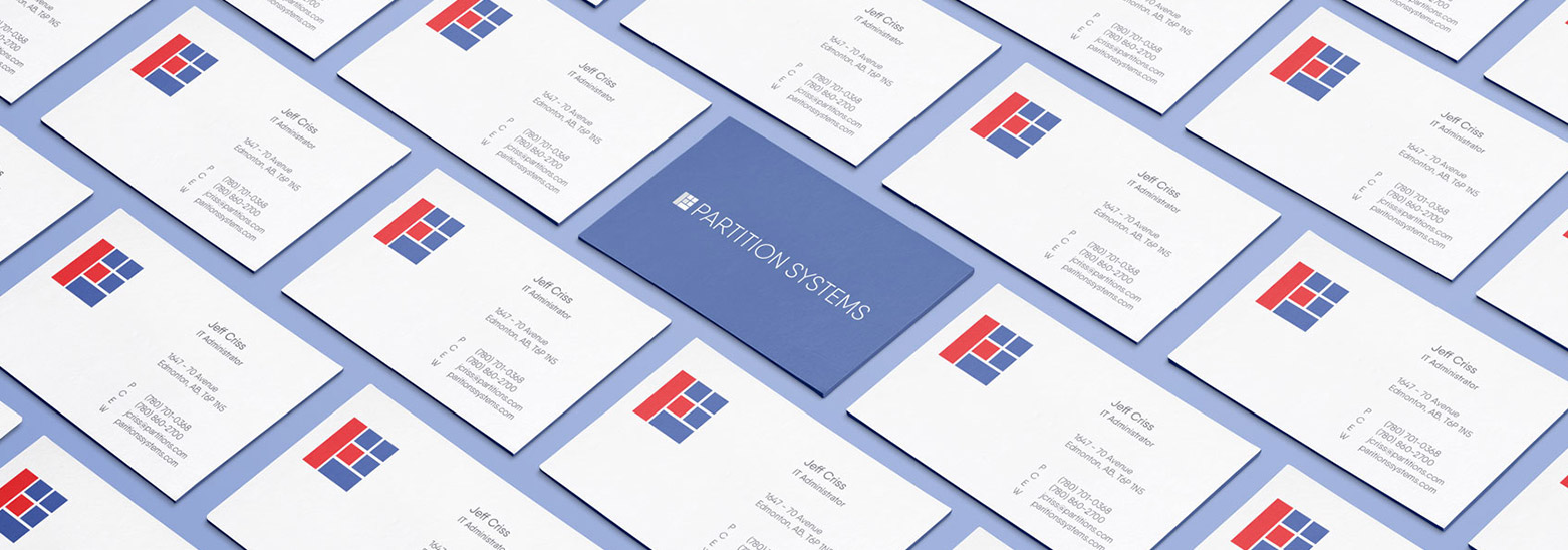Partition Systems Business Cards