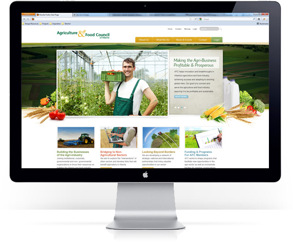 Mediashaker's Website Design for Agriculture and Food Council 2012